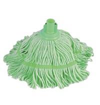 Jantex Antibacteriële mop groen | 50% Polyester & 50% Katoen |  38(Ø)cm