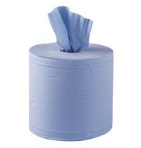 Jantex Centrefeed handdoekrollen blauw | 6 stuks | 2 laags