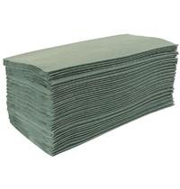 Jantex Z gevouwen handdoeken groen | 1 laags | 15 stuks | 24,2x8,5(l)cm