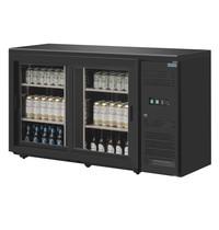 Polar U serie bardisplay 144 flessen | 350L | Met 2 klapdeuren | Geforceerd | 1462x513x860(h)mm