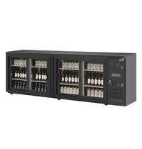 Polar U serie bardisplay 288 flessen | 698L | Met 4 zelf sluitende deuren  | Geforceerd | 230V | 2542x513x860(h)mm