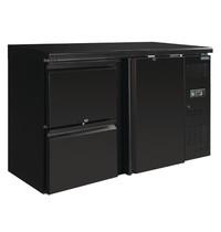 Polar U serie werkbank koeling 349L | 280W | 1 deur & 2 laden | 230V | 1462x513x860(h)mm