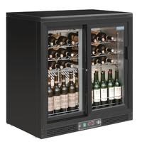 Polar G-serie horizontale wijnkoeling 56 flessen | 254L | Met 2 schuifdeuren | 230V | 920x535x920(h)mm