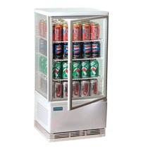 Polar C-serie koelvitrine wit | 68L |Met glas deur +  Instelbare thermostaat | 230V | 428x386x885(h)mm
