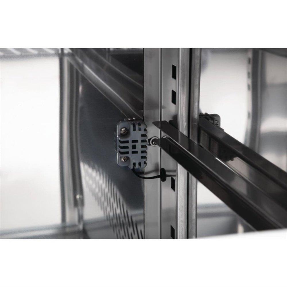U serie 3-deurs RVS koelwerkbank op wielen| 417L | 230V | 1/1GN | 1795x700x860(h)mm