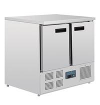Polar G-serie RVS koelwerkbank 2-deurs | 1/1 GN |230V |  900x700x880(h)mm