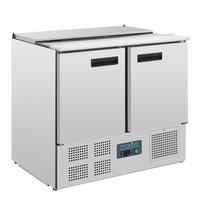 Polar G-serie RVS gekoelde saladette | 240L | 2,5 GN | 230V | 900x700x885(h)mm