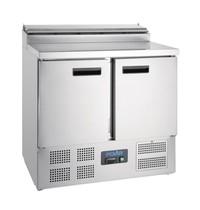 Polar G-serie RVS gekoelde saladette | 254L | 5x 1/6 GN | 230V | 900x700x1010(h)mm