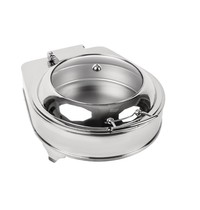 Olympia Ronde elektrische chafing dish | 6L | Met pan | 425x490x240(h)mm