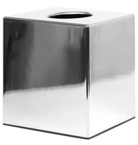 Bolero Vierkante tissuebox van chroom | 120x120x130(h)mm