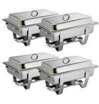 Olympia Milan chafing dish set | GN 1/1 | 4 stuks | 332x590x270(h)mm