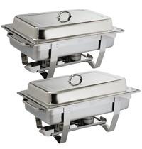 Olympia Milan chafing dish set   GN 1/1  2 stuks   332x590x270(h)mm