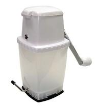 Gastronoble IJscrusher RVS met vacuümbasis wit | 140x108x250(h)mm