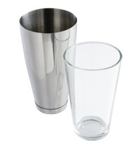 APS Boston cocktailshaker en glas RVS | 80cl, glas 45,5cl