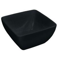 Kristallon Vierkante kom met gebogen rand zwart | 190x190x100(h)mm