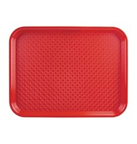 Kristallon Dienblad plastic rood | 34,5x26,5cm