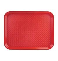Kristallon Dienblad polypropyleen rood 34,5x26,5cm