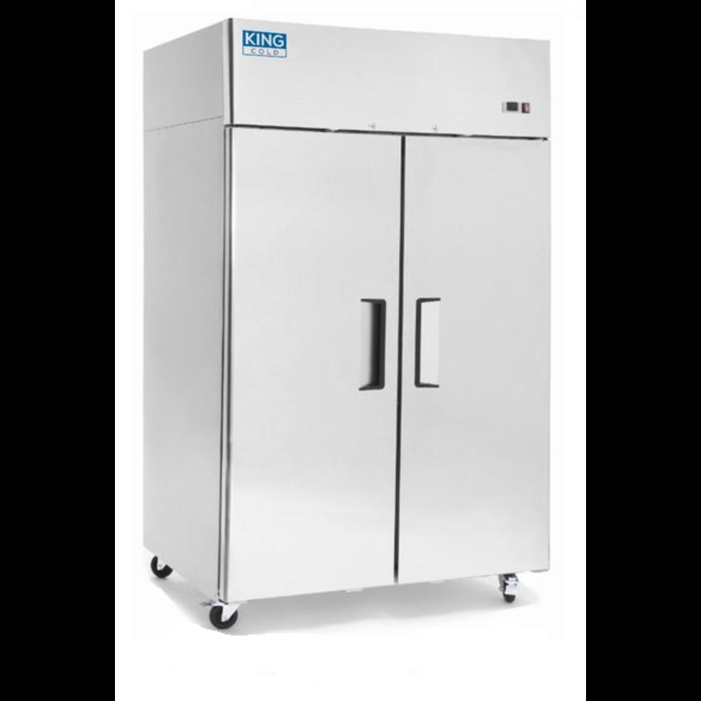 Koelkast RVS | 2 deuren | 1000 liter | met wielen | 1215x750x1930(h)mm