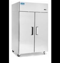 King Cold Koelkast RVS | 2 deuren | 1000 liter | met wielen | 1215x750x1930(h)mm