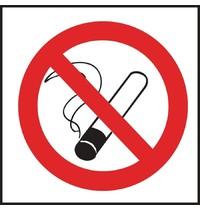 Vogue Verboden te roken vinyl sticker | Zelfklevend | 10(h) x 10(b)cm