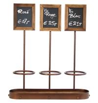 Securit Wijnfles display 3 voudig | Voor flessen van 70cl | 13(h) x 10,5(b)cm