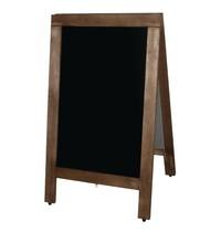 Olympia Houten stoepbord |Met ketting voor optimale positionering | 86x56cm