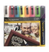 Securit Set wisbare krijtstiften 6mm   8 stuks   145x20x150(h)mm