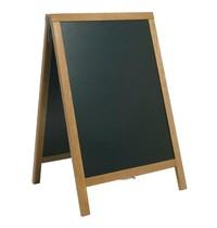 Securit Teakhouten stoepbord | Met ketting voor optimale positionering | 47x68cm