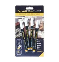 Securit Wisbare krijtstiften 2mm wit   4 stuks  Met ronde punt   1x2mm