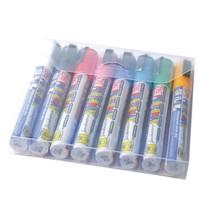 Securit Posterman set weerbestendige krijtstiften 6mm  assorti   8 stuks   145x20x150(h)mm