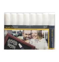 Securit Krijtstiften 15mm wit   8 stuks   145x20x150(h)mm