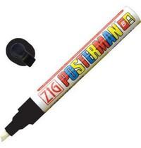 Securit Posterman weerbestendige krijtstift zwart 6mm | Met pompsysteem | 145x60x80(h)mm