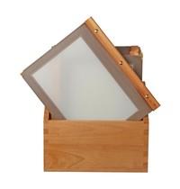 Securit Menu mappen set met bruine houten box   A4 formaat   Incl. 20 menu mappen   301x246x337(h)mm