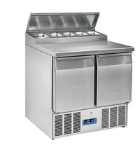 Mastro Saladette RVS 240L | 2 deurs | 5x 1/6 GN | 230V | 0/+8 graden | 900x700x1005(h0mm