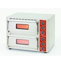 Diamond Pizza oven elektrisch | 1+1 43Øcm | Bodem in vuurvaste stenen | 6kW | 670x580x500(h)mm
