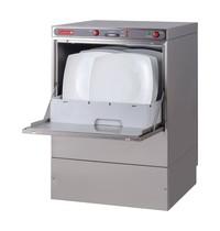 Gastro M Horeca vaatwasser voorlader | 500x500mm mand | Met afvoerpomp + zeepdispenser | 600x570x830(h)mm
