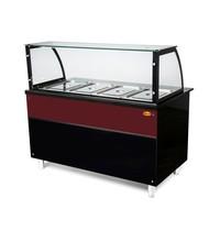 MG Hofmann Bain Marie Warm buffet | 4x GN 1/1 | met aftapkraan | 1460x850x1300(h)mm