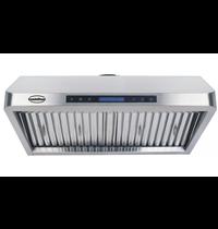CombiSteel Afzuigkap schuinmodel compleet met motor + LED verlichting   1530m3 per uur   900x560x250(h)mm