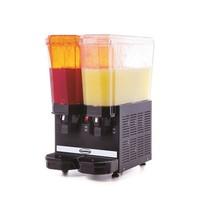 Combisteel Dranken dispenser zwart | 20+20 liter | TBV heldere dranken | 230V | 365x520x665(h)mm