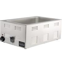 Combisteel Bain marie elektrisch | 1x 1/1 GN 150 mm | 1,2kW/h | Met aftapkraan | 538x336x243(h)mm