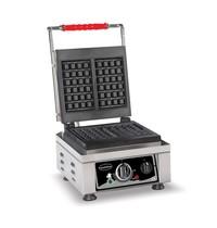 CombiSteel Wafelijzer | Bakplaat 2x 80x160mm | 2,2kW/h | 300x320x300(h)mm