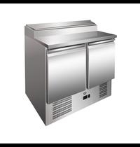 Gastro-Inox Saladette RVS 257L | 2 deurs | 5x 1/6 GN | Geforceerd | 900x700x1010(h)mm
