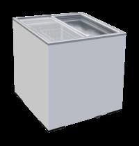 TopCold Diepvrieskist met vlakke glazen deksel | 166 liter | 725x635x875(h)mm