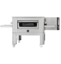 Prismafood Tunnel oven elektrisch C80 met onderstel  | 206 pizza's/h | 80 cm band | |24,4 W/h | 2250x1560x1130(h)mm