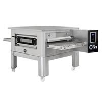 Prismafood Tunnel oven elektrisch C50 met onderstel | 86 pizza's/h | 50cm band | |14,2kW/h | 1860x1210x1030(h)mm