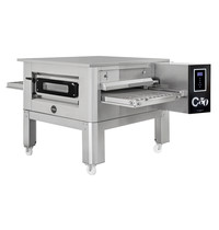 Prismafood Tunnel oven gas C50 met onderstel | 86 pizza's/h | 20,1 kW/h | 50cm band | 1860x1200x1030(h)mm
