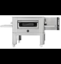 Prismafood Tunnel oven gas C65 met onderstel | 137 pizza's/h | 22,6 kW/h | 65cm band | 2070x1375x1090(h)mm