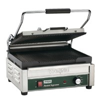 Waring Contactgrill/Panini grill l gietijzer | Geribd | 2,4 kW/h | 406x445x241(h)mm