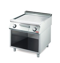 Gastro M Bakplaat/Grillplaat elektrisch 70/80 FTES-CR Chroom | 10,8kW/h | 800x700x850(h)mm