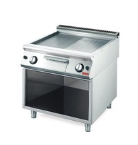Gastro M Bakplaat/Grillplaat 70/80 FTRGS RVS   12kW/h   800x700x850(h)mm
